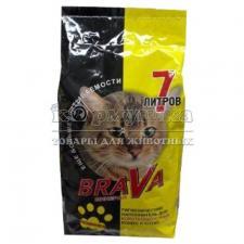 Наполнитель для кошачьих туалетов Brava Минерал желтый для гладкошерстных  кошек и котят, 7л.