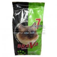 Наполнитель для кошачьих туалетов BRAVA Минерал зеленый  для короткошерстных кошек, 7л.