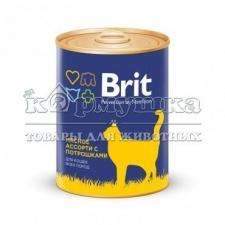Brit Premium консервы для кошек мясное ассорти с потрошками 340гр
