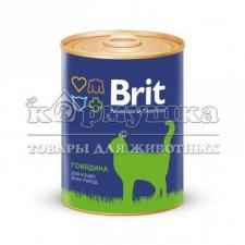 Brit Premium консервы для кошек с говядиной 340гр