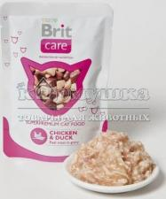 "Brit (Брит) Care Cat Chicken & Duck Pouch ""Курица и утка"" 80 g"