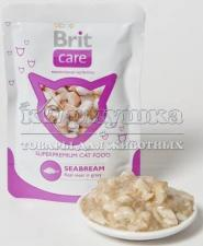 "Brit (Брит) Care Cat Seabream Pouch ""Морской лещ"" 80 g"