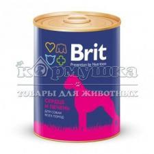 Консервы BRIT HEART & LIVER для собак (сердце и печень) 850 г