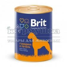 Консервы BRIT RED MEAT & LIVER для собак (говядина и печень) 850 г