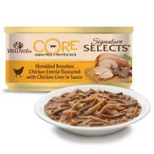 Wellness CORE Signature Selects консервы для кошек измельченное куриное филе с куриной печенкой в соусе