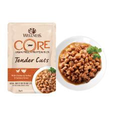 Wellness Core Tender Cuts пауч для кошек нежные кусочки курицы и индейки в пикантном соусе