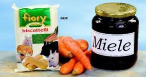 Бисквиты для грызунов Fiory Biscottelli с морковью, 35 гр.