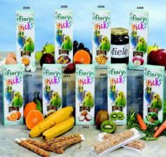 Палочки для попугаев Fiory Sticks с фруктами, 2х30 г