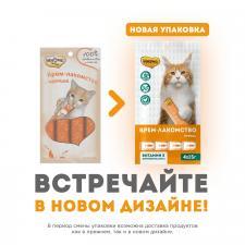 Крем-лакомство для кошек Мнямс (с курицей), 15 гр.