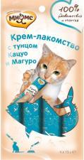 Крем-лакомство для кошек Мнямс с тунцом Кацуо и Магуро