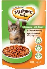 Влажный корм для кошек Мнямс с кроликом в соусе
