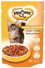 Влажный корм для кошек Мнямс с курицей в соусе