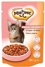 Влажный корм для кошек Мнямс с лососем в соусе