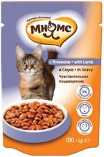 Влажный корм для кошек Мнямс с ягненком в соусе