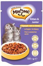 Влажный корм для котят Мнямс с курицей в соусе