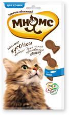 Лакомство для кошек Мнямс, кусочки в форме рыбок со вкусом лосося