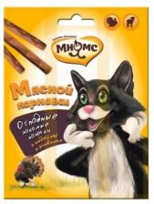 """Лакомство для кошек Мнямс, палочки """"Мясной карнавал"""""""
