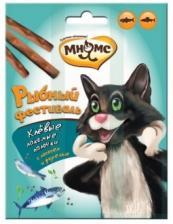 """Лакомство для кошек Мнямс, палочки """"Рыбный фестиваль"""""""