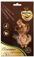 Лакомство для собак Мнямс, палочки 13,5см с олениной и яблоком