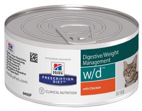 Хиллс консерва для кошек Диета W/D (Лечение сахарного диабета)