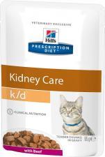 Влажный корм для кошек Hill,s k/d диета, лечение заболев.почек