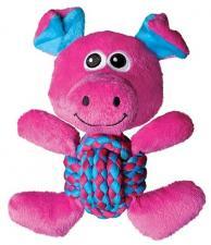 Игрушка для собак KONG Weave Knots Свинка