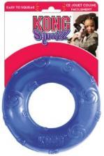 Игрушка для собак KONG Сквиз Кольцо d 16 см большое резиновое с пищалкой