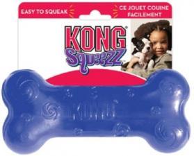Игрушка для собак KONG Сквиз Косточка 15 см средняя резиновая с пищалкой