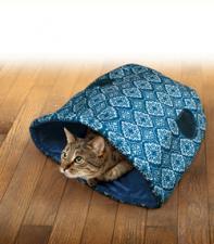 Шуршащий игровой домик для кошек KONG