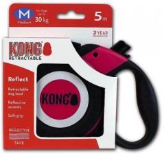 Поводок-рулетка KONG Reflect M (до 30 кг) лента 5 метров