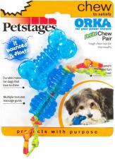 """Набор из двух игрушек для собак мелких пород Petstages """"ОРКА косточка+гантеля"""""""