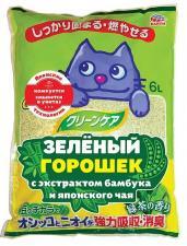 Растительный наполнитель для кошачьих туалетов зеленый горошек