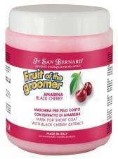 Восстанавливающая маска для короткой шерсти с протеинами шелка Iv San Bernard Fruit of the Grommer Black Cherry