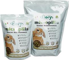 Корм для карликовых кроликов старше 7лет FIORY Micropills Dwarf Rabbits
