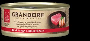 Корм для кошек Grandorf (тунец с креветками)