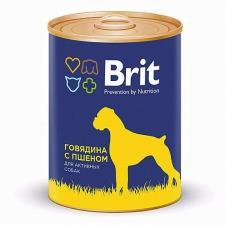 Консервы для собак Brit Beef&Millet (с говядиной и пшеном)
