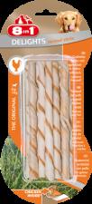 Лакомство для собак 8в1 Палочки плетеные для чистки зубов с куриным мясом (10 шт)
