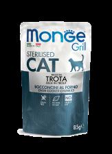 Корм для кошек Monge Cat Grill Итальянская Форель 85 г.
