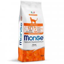 Корм для стерилизованных кошек Monge Cat Monoprotein Sterilised Duck (утка), 10 кг
