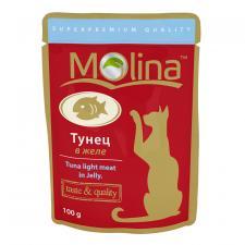 Корм для кошек Molina тунец в желе, 100 г.