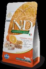 Корм для кошек N&D треска с апельсином низкозерновой