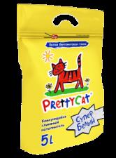 Наполнитель для кошек Pretty cat 5 л (бентонит супер белый)