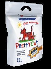 Наполнитель для кошек Pretty cat для котят 12 л (древесные гранулы)