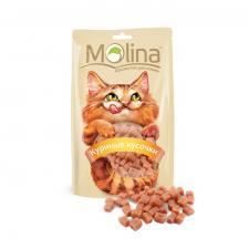 Лакомство для кошек Молина Куриные Кусочки 80гр