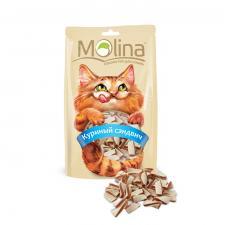 Лакомство для кошек Молина Куриный Сэндвич 80гр