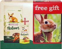 Корм и лакомство для кроликов VERSELE-LAGA Набор для кроликов Nature Cuni+лакомство+ контейнер в подарок
