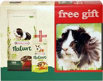 Корм и лакомство для кроликов VERSELE-LAGA Набор для кроликов Nature Cavia+лакомство+ контейнер в подарок