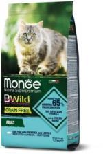 Корм для кошек Monge BWild беззерновой (треска, картофель, чечевица)