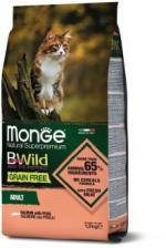 Корм для кошек Monge BWild беззерновой (лосось и горох)