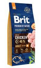 Корм для собак средних пород Brit Premium Adult M, (курица)